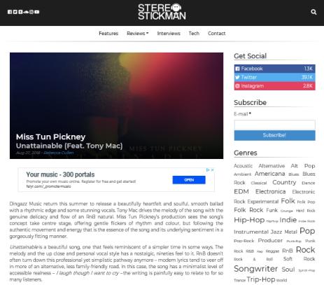 professional music review blog magazine