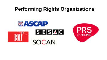 performing rights organizations, ascap, bmi, sesac,prs,